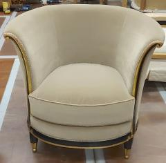 Jules Leleu rarest documented early Art Deco refined pair of chairs - 1636532