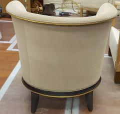 Jules Leleu rarest documented early Art Deco refined pair of chairs - 1636533