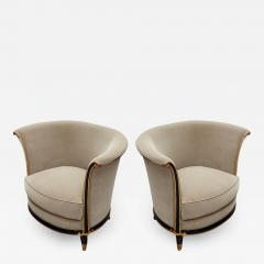 Jules Leleu rarest documented early Art Deco refined pair of chairs - 1637639
