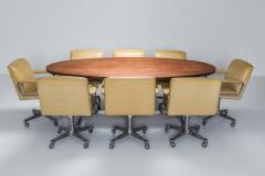 Jules Wabbes Jules Wabbes Oval Dining Table for Mobilier Universel 1960s - 1420988