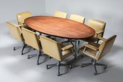 Jules Wabbes Jules Wabbes Oval Dining Table for Mobilier Universel 1960s - 1420993
