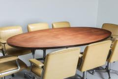Jules Wabbes Jules Wabbes Oval Dining Table for Mobilier Universel 1960s - 1420995