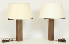 Jules Wabbes Pair of Table lamps solid bronze by Jules Wabbes - 1624632