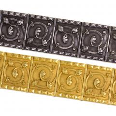 Jules Wiese Superb Pair of Wi se 19th Century Gold and Silver Bracelets - 1095949