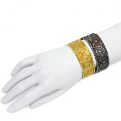 Jules Wiese Superb Pair of Wi se 19th Century Gold and Silver Bracelets - 1095954
