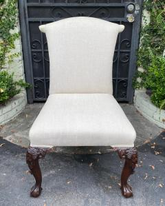 Julian Chichester Chippendale Style Carved Mahogany Ball Claw Side Chair W Faces - 1610179