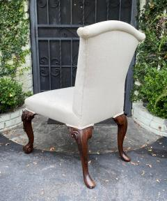 Julian Chichester Chippendale Style Carved Mahogany Ball Claw Side Chair W Faces - 1610192