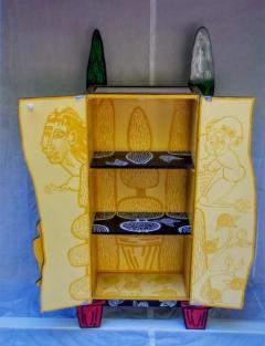 Julian Faulkner Adam and Adam in Eden Painted Cabinet Signed 1996 - 1330920