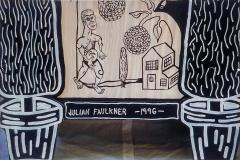 Julian Faulkner Adam and Adam in Eden Painted Cabinet Signed 1996 - 1330925