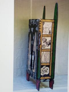 Julian Faulkner Adam and Adam in Eden Painted Cabinet Signed 1996 - 1330926