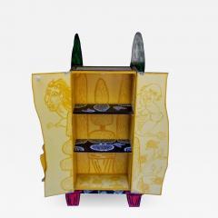 Julian Faulkner Adam and Adam in Eden Painted Cabinet Signed 1996 - 1331723