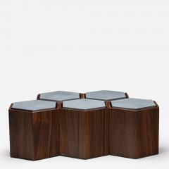 Juliana Lima Vasconcellos Set of Contemporary Modular Side or center Table or stool  - 1565315
