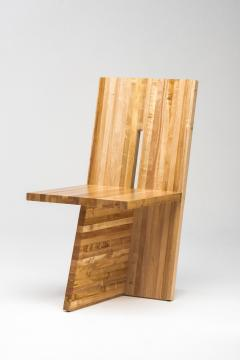 Juliana Lima Vasconcellos Small Planos Chair in Solid African Mahogany Wood by Juliana Lima Vasconcellos - 1562933