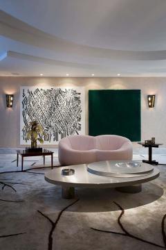 Juliana Lima Vasconcellos e Matheus Barreto Contemporary Futuristic Center Table in Stainless Steel - 1562829