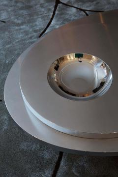 Juliana Lima Vasconcellos e Matheus Barreto Contemporary Futuristic Center Table in Stainless Steel - 1562830