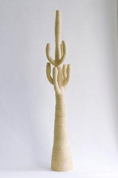 Julie Bergeron Large Contemporary White Ceramic Cactus Sculpture Grand Cactus Blanc - 1669327