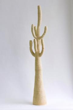 Julie Bergeron Large Contemporary White Ceramic Cactus Sculpture Grand Cactus Blanc - 1669334