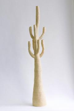 Julie Bergeron Large Contemporary White Ceramic Cactus Sculpture Grand Cactus Blanc - 1669335