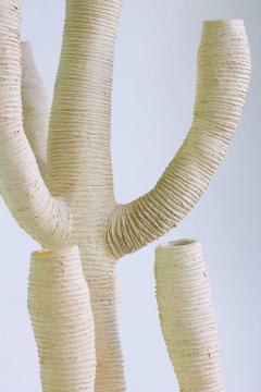 Julie Bergeron Large Contemporary White Ceramic Cactus Sculpture Grand Cactus Blanc - 1669336