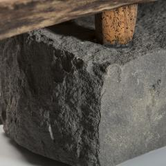 Julio Mart nez Barnetche BANCA CON PATAS BENCH WITH FEET salvaged wood and volcanic stone - 924486