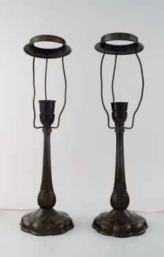 Just Andersen A pair of table lamps in patinated disko metal - 1330807