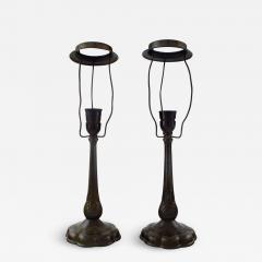 Just Andersen A pair of table lamps in patinated disko metal - 1331837