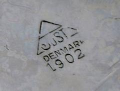 Just Andersen Rare art deco lidded pan in pewter with knob and handle in bakelite - 1423028