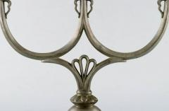 Just Andersen Two early candlesticks in pewter - 1423024