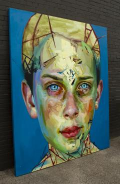 Justin Bower Blue Boy Painting by Justin Bower - 1679240