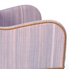 Kaare Klint Classically Chic Pair of Mix Armchairs by Kaare Klint in Striae Horsehair - 625534