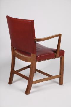 Kaare Klint Kaare Klint Barcelona Armchair Red Leather Cuban Mahogany Denmark 1950s  - 1604914