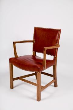 Kaare Klint Kaare Klint Barcelona Armchair Red Leather Cuban Mahogany Denmark 1950s  - 1604915