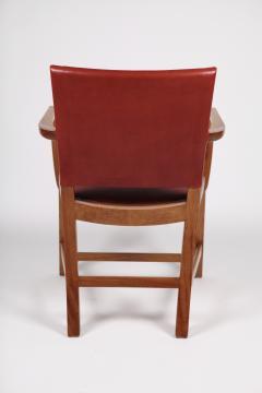 Kaare Klint Kaare Klint Barcelona Armchair Red Leather Cuban Mahogany Denmark 1950s  - 1604919