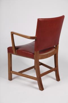 Kaare Klint Kaare Klint Barcelona Armchair Red Leather Cuban Mahogany Denmark 1950s  - 1604920