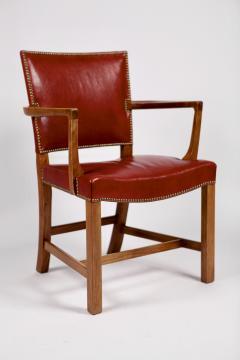 Kaare Klint Kaare Klint Barcelona Armchair Red Leather Cuban Mahogany Denmark 1950s  - 1604922