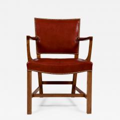 Kaare Klint Kaare Klint Barcelona Armchair Red Leather Cuban Mahogany Denmark 1950s  - 1605824