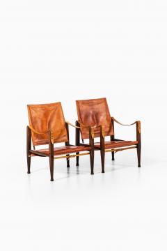 Kaare Klint Safari Easy Chairs Produced by Rud Rasmussen - 1922313