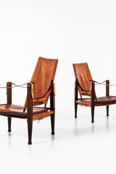 Kaare Klint Safari Easy Chairs Produced by Rud Rasmussen - 1922314