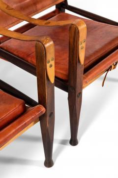 Kaare Klint Safari Easy Chairs Produced by Rud Rasmussen - 1922315