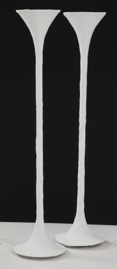 Kacper Dolatowski White Plaster Torchiere Lamp by Kasper Dolatowski - 1255102