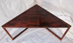 Kai Kristiansen Brazilian Rosewood Nest of Three Tables Attr Kai Kristiansen Denmark 1960 - 937916