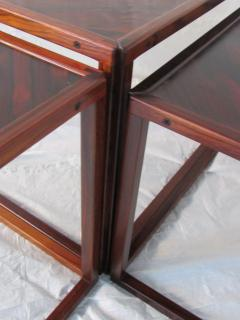Kai Kristiansen Brazilian Rosewood Nest of Three Tables Attr Kai Kristiansen Denmark 1960 - 937918
