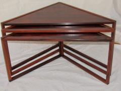 Kai Kristiansen Brazilian Rosewood Nest of Three Tables Attr Kai Kristiansen Denmark 1960 - 937920