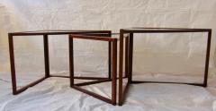 Kai Kristiansen Brazilian Rosewood Nest of Three Tables Attr Kai Kristiansen Denmark 1960 - 937921