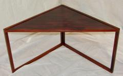 Kai Kristiansen Brazilian Rosewood Nest of Three Tables Attr Kai Kristiansen Denmark 1960 - 937922