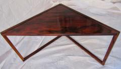 Kai Kristiansen Brazilian Rosewood Nest of Three Tables Attr Kai Kristiansen Denmark 1960 - 937923