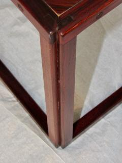 Kai Kristiansen Brazilian Rosewood Nest of Three Tables Attr Kai Kristiansen Denmark 1960 - 937926