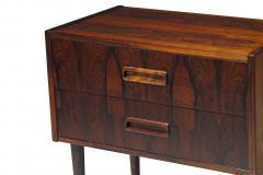 Kai Kristiansen Danish Rosewood Nightstand Bedside Tables with Drawers - 1076470