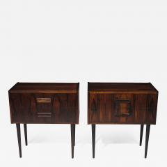 Kai Kristiansen Danish Rosewood Nightstand Bedside Tables with Drawers - 1076544
