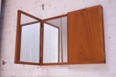 Kai Kristiansen Danish Teak Tri Fold Wall Mirror by Kai Kristiansen for Aksel Kjersgaard - 1113990